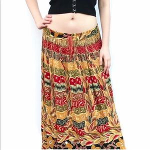 Boho Hippie Gypsy 60s 70s maxi skirt free people